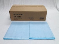 Stretcher Sheets Blue -Tissue / Poly - BOX/50, 40 in x 72 in