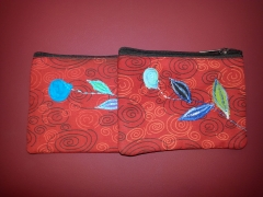Leaf Cotton Coin Purse