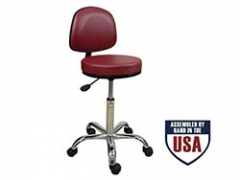 Oakworks Professional Backrest Stool