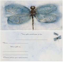 Dragonfly Non-Folded Gift Certificates
