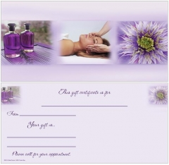 Purple Spa Images Non-Folded Gift Certificate