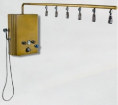 Brass Monkey Vichy Shower with Cold -Plunge 6 head