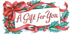 Ribbons & Holly Non-Folded Gift Certificate