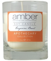 Amber Tangerine Basil Soy Candle