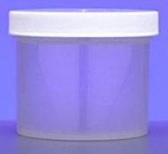 Natural Color Plastic 4 oz Jar with Cap