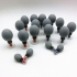 Haci 18 pc Magnetic Therapy Acupressure Bulb Cupping Set