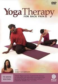 yoga therapy for back pain  videos  dvds