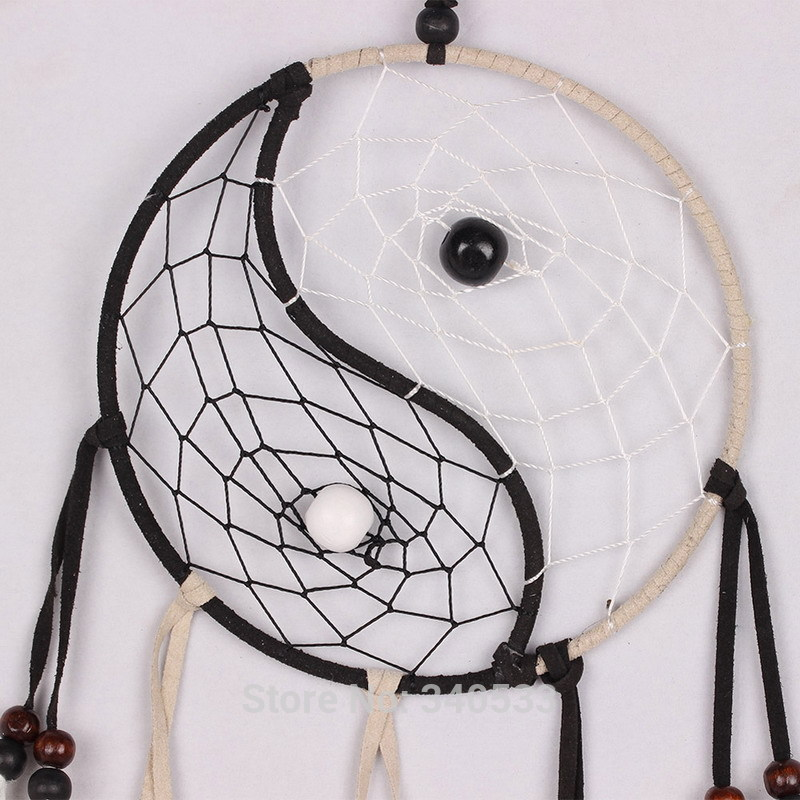 Taiji dream catcher circular net with feathers 102409 for High chair net catcher