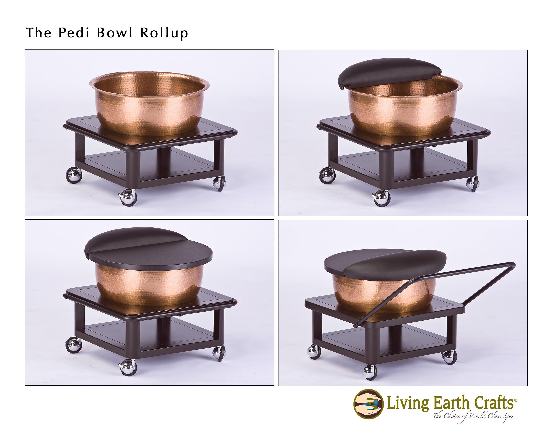 copper bowl roll up foot bath foot baths tubs. Black Bedroom Furniture Sets. Home Design Ideas
