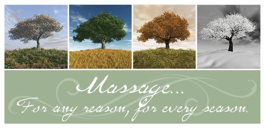 Massage Seasons Non-Folded Gift Certificates